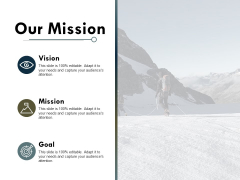 Our Mission Vision Goal Ppt PowerPoint Presentation Ideas Outfit