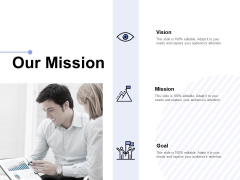 Our Mission Vision Goal Ppt PowerPoint Presentation Infographic Template Example Topics