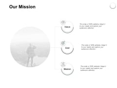 Our Mission Vision Goal Ppt PowerPoint Presentation Infographic Template Examples