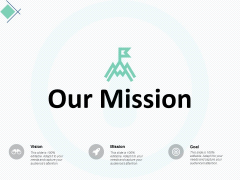 our mission vision goal ppt powerpoint presentation infographic template guide