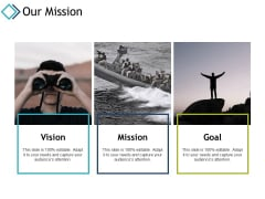 Our Mission Vision Goal Ppt PowerPoint Presentation Infographic Template Layout