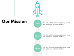 Our Mission Vision Goal Ppt PowerPoint Presentation Infographic Template Show