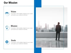 Our Mission Vision Goal Ppt PowerPoint Presentation Model Layout Ideas
