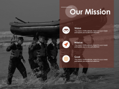 Our Mission Vision Goal Ppt Powerpoint Presentation Outline Brochure