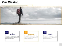Our Mission Vision Goal Ppt PowerPoint Presentation Pictures Icons