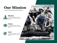 Our Mission Vision Goal Ppt PowerPoint Presentation Summary Model
