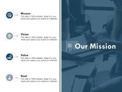 Our Mission Vision Goal Ppt Powerpoint Presentation Visual Aids Portfolio