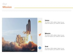 Our Mission Vision Goals Ppt PowerPoint Presentation File Professional