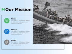 Our Mission Vision Goals Ppt Powerpoint Presentation Gallery Design Templates