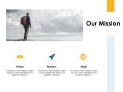 Our Mission Vision Goals Ppt PowerPoint Presentation Show File Formats