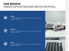 Our Mission Website Support Retainer Service Proposal Ppt PowerPoint Presentation Inspiration Templates