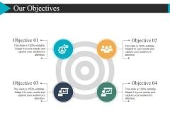 Our Objectives Ppt PowerPoint Presentation Gallery Ideas