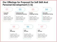 Our Offerings For Proposal For Soft Skill And Personal Development Structure PDF