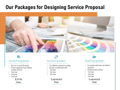 Our Packages For Designing Service Proposal Ppt PowerPoint Presentation Styles Icons