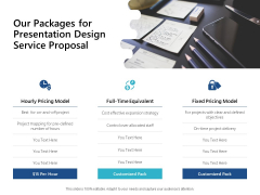 Our Packages For Presentation Design Service Proposal Ppt PowerPoint Presentation Inspiration Infographics