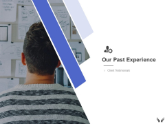Our Past Experience Client Ppt Powerpoint Presentation Portfolio Introduction