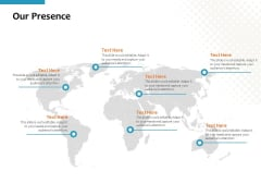 Our Presence Ppt PowerPoint Presentation Layouts Visuals