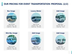 Our Pricing For Event Transportation Proposal Ppt PowerPoint Presentation Rules