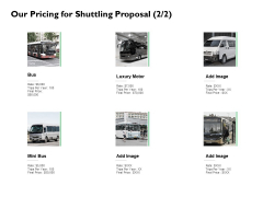 Our Pricing For Shuttling Proposal Marketing Ppt PowerPoint Presentation Infographic Template Good