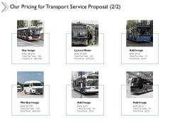 Our Pricing For Transport Service Proposal Marketing Ppt Powerpoint Presentation Styles Images