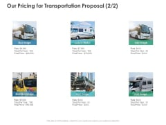 Our Pricing For Transportation Proposal Strategy Ppt PowerPoint Presentation Outline Infographics