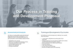 Our Process In Training And Development Proposal Ppt PowerPoint Presentation Inspiration Background