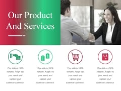 Our Product And Services Ppt PowerPoint Presentation Ideas Tips