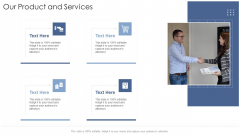 Our Product And Services Startup Business Strategy Ppt Icon Format Ideas PDF
