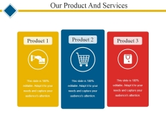 Our Product And Services Template 1 Ppt PowerPoint Presentation Pictures Show