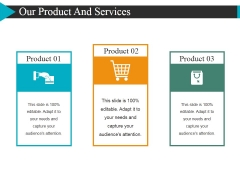 Our Product And Services Template 1 Ppt PowerPoint Presentation Slides Grid