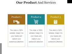 Our Product And Services Template Ppt PowerPoint Presentation Model Graphic Tips