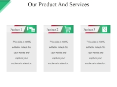 Our Product And Services Template Ppt PowerPoint Presentation Pictures Graphics Template