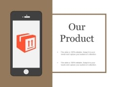 Our Product Template 2 Ppt PowerPoint Presentation Designs Download