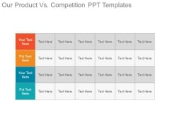 Our Product Vs Competition Ppt Templates