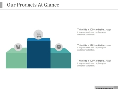 Our Products At Glance Ppt PowerPoint Presentation Infographics