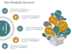 Our Products Services Ppt PowerPoint Presentation Gallery Designs Download