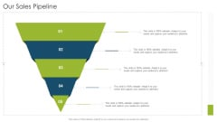 Our Sales Pipeline Organizational Strategies And Promotion Techniques Portrait PDF