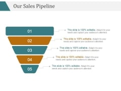 Our Sales Pipeline Ppt PowerPoint Presentation Diagrams