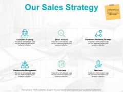 Our Sales Strategy Ppt PowerPoint Presentation Layouts Sample