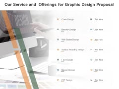Our Service And Offerings For Graphic Design Proposal Ppt PowerPoint Presentation Infographics Visuals