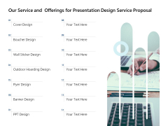 Our Service And Offerings For Presentation Design Service Proposal Ppt PowerPoint Presentation Infographics Design Inspiration