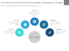 Our Services And Products Presentation Background Images