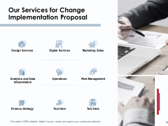 Our Services For Change Implementation Proposal Ppt PowerPoint Presentation Professional Designs