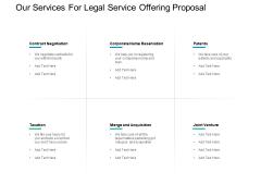 Our Services For Legal Service Offering Proposal Ppt PowerPoint Presentation Slides Portfolio