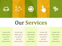 Our Services Ppt PowerPoint Presentation Infographics Outfit