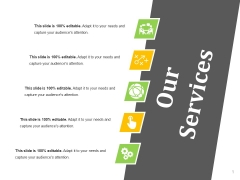 Our Services Ppt PowerPoint Presentation Inspiration Ideas