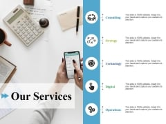 Our Services Ppt PowerPoint Presentation Pictures Samples