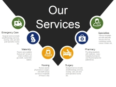 Our Services Template 1 Ppt PowerPoint Presentation Styles Layout