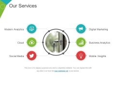 Our Services Template 1 Ppt PowerPoint Presentation Summary Slides