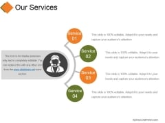 Our Services Template 2 Ppt PowerPoint Presentation Summary Display
